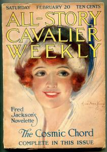 All-Story Cavalier Weekly 2/20/1915-Hamilton King Girl- Cosmic Chord FN-
