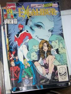 Excalibur # 32  dec 1990, Marvel   school girls from heck pt 1 kitty pride x men