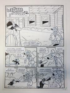 Fox & The Crow,DC Comics,MEXICAN ORIGINAL ARTWORK!COMPETE STORY!9 PAGES great