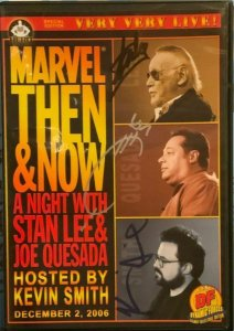 MARVEL THEN AND NOW A Night with STAN LEE DF SIGNED COLLECTORS EDITION DVD.NEW.