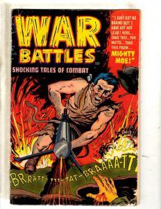 War Battles Shocking Tales Of Combat # 6 VG Golden Age Comic Book Pre-Code JL2