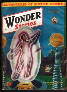 WONDER STORIES 1933 OCT-SCI FI PULP-FRANK R PAUL ART!! G