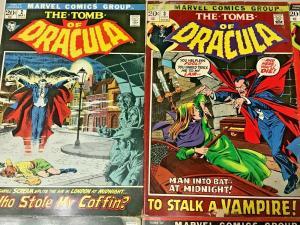 TOMB OF DRACULA#2-12 VG-FN LOT 1972 (6 BOOKS) MARVEL BRONZE AGE COMICS