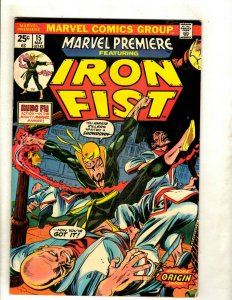 Marvel Premiere # 15 VF Comic Book Feat. Iron Fist 1st Appearance Key Karate RS1