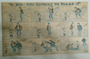 Bud He's Always to Blame Sunday Page by Lowry from ?/1911 Half Full Page Size!