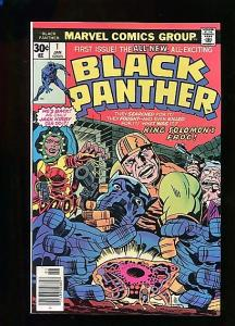 BLACK PANTHER  #1  (1976)  9.0  WHITE PAGES  BRONZE AGE KEY