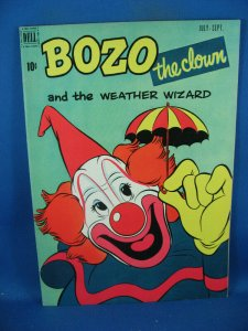 BOZO THE CLOWN 2 VF+ THE WEATHER WIZARD DELL 1951