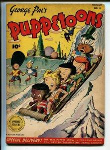 George Pal's Puppetoons #8 1947-Fawcett-bizarre comic-FN MINUS