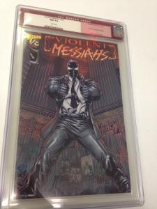 Violent Messiahs Wizard 1/2 Mail Away CGC Old Red Label 9.4 Crack Case