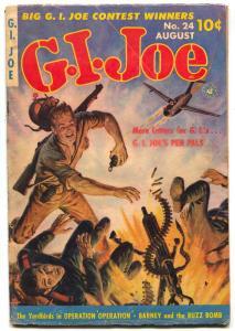 G.I. Joe #24 1953- Saunders cover- DECARLO art VG
