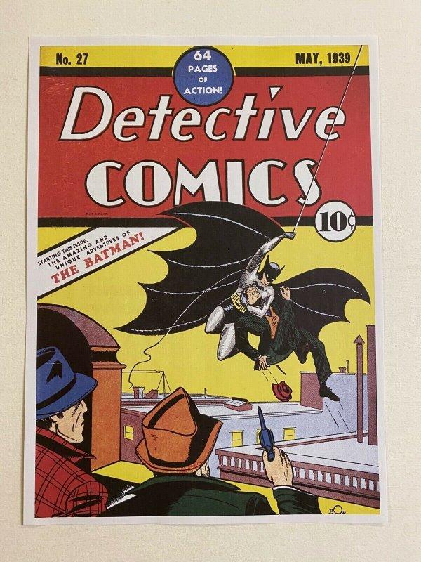 Detective Comics #27 Batman DC Comics poster by Bob Kane