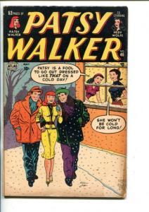 PATSY WALKER #46-1953-HEDY WOLF-AL JAFFEE COVER-PAPER DOLLS-vg