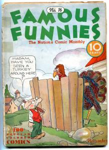 Famous Funnies #16 1935- Buck Rogers- Joe Palooka- POOR