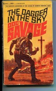 DOC SAVAGE-THE DAGGER IN THE SKY-#40-ROBESON-G-JAMES BAMA COVER-1ST EDITION G