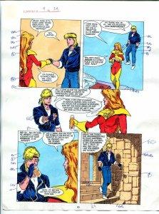 Elementals #9 Page #24 Original Color Guide Ken Feduniewicz