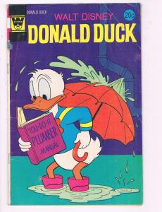 Donald Duck #155 VG Whitman Comic Book Walt Disney 1972 DE7