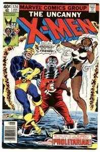 UNCANNY X-MEN #124 1979-MARVEL COMICS-PROLETARIAN ISSUE VF-