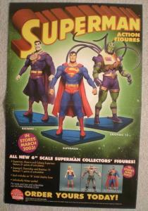 SUPERMAN ACTION FIGURES Promo poster, 11x17, Unused, more Promos in store