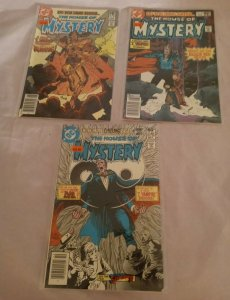 LOT OF 3 THE HOUSE OF MYSTERY 1981 DC COMICS #293 295 297 I VAMPIRE FN VF