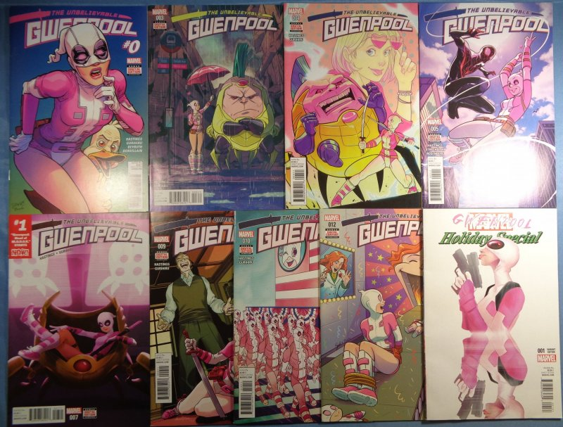 Unbelievable Gwenpool Lot #0 #3 #4 #5 #7 #9 #10 #12 Holiday Special #1