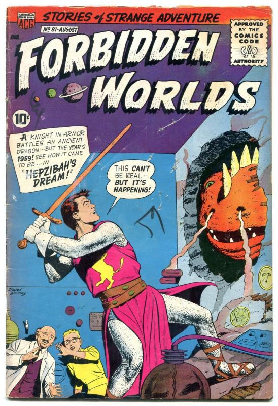 Forbidden Worlds #81 1959-Odgen Whitney cover- Silver Age VG