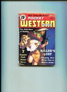 POCKET WESTERN SEPTEMBER 1950-TROJAN-SPICY GOOD GIRL ART-VG+