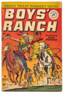 Boys' Ranch #6 1951- Kirby art- Golden Age Western VG