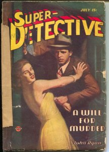 Super-Detective 7/1946-Good Girl Art cover-hardboiled pulp fiction-Bellem-Merril