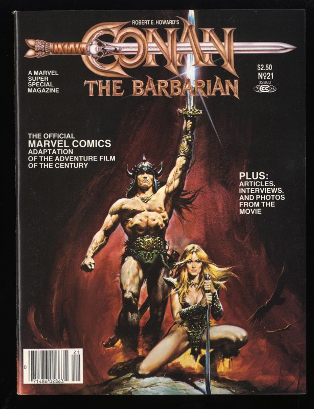 Marvel Super Special #21 FN/VF 7.0 Conan the Barbarian!