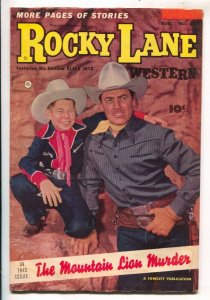 Rocky Lane Western #52-1953- B-Western movie star-photo cover-VG