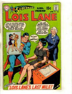 Superman's Girlfriend Lois Lane #100 VG DC Silver Age Comic Book Smallville J370