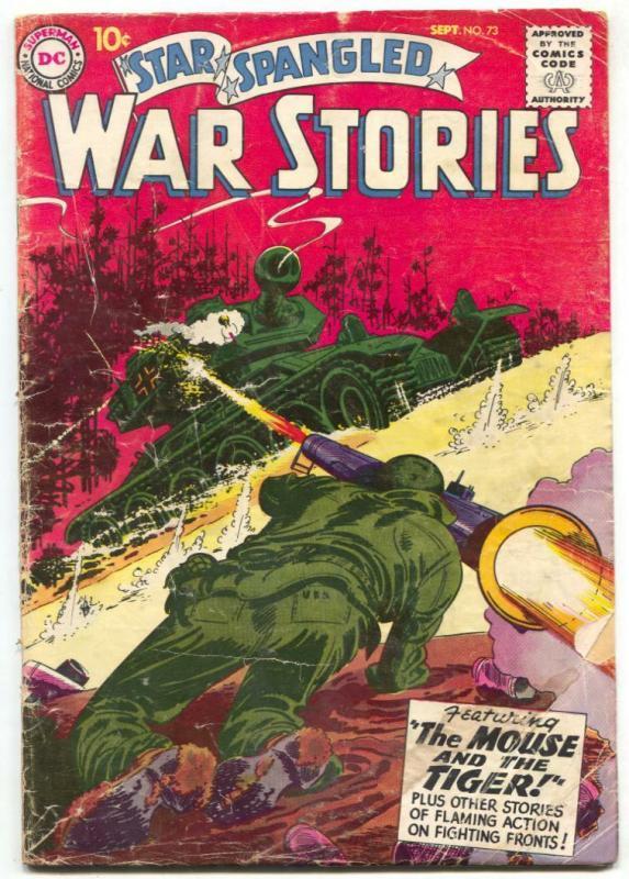 Star Spangled War Stories #73 1958 BAZOOKA-TANK COVER G