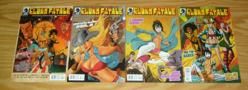 Clown Fatale #1-4 VF/NM complete series - victor gischler - bad girl comics 2 3