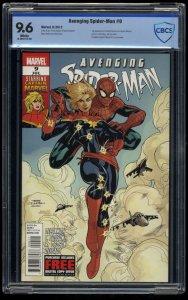 Avenging Spider-Man #9 CBCS NM+ 9.6 1st Carol Danvers as Captain Marvel!