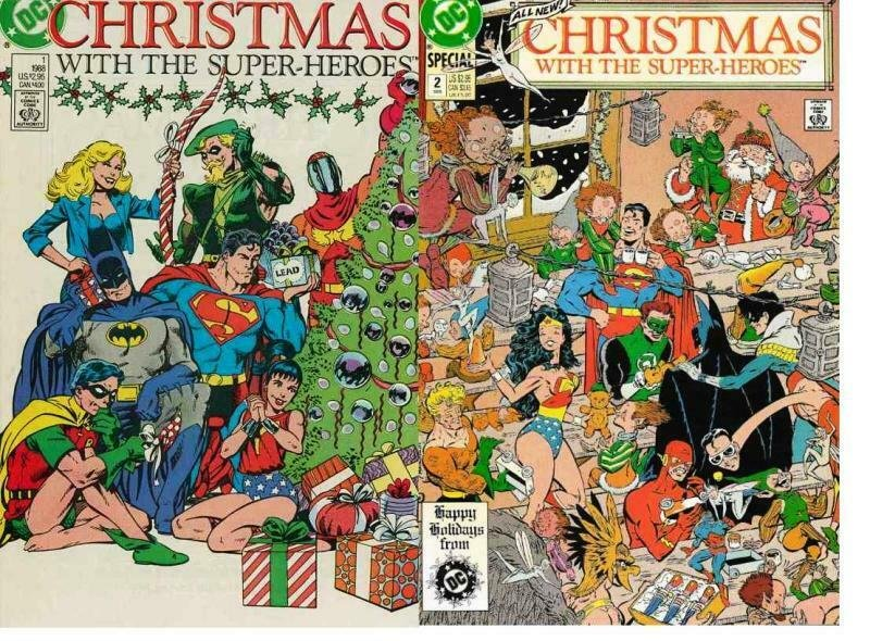 CHRISTMAS WITH THE SUPERHEROES 1-2 N. Adams & F. Miller