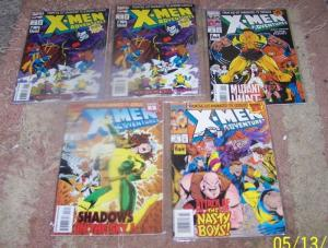X-Men Adventures comic lot issues # 1 1 2 3 5 sinister+gambit animated