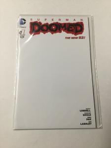 Superman Doomed 1 Nm Near Mint Blank Variant DC Comics