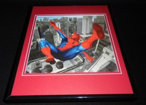 Amazing Spiderman Swinging Above the City Framed 11x14 Photo Display