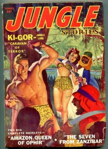 Jungle Stories Pulp Summer 1943- Ki-Gor Caravan of Terror VG+