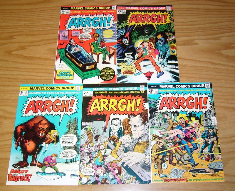 Arrgh! #1-5 VF/NM complete series - marvel pokes fun at dracula/horror/monsters