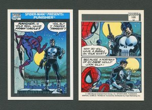 1990 Marvel Comics Card  #155 (Spiderman Presents: Punisher) / MINT