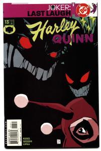 HARLEY QUINN #13 comic book-JOKER LAST LAUGH-2001-HIGH GRADE