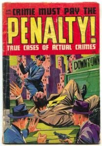 Crime Must Pay The Penalty #44 1955- LOW GRADE COPY