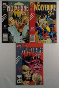 Wolverine Saga #1 2 3 Rob Liefeld Front/Back Cover Photos Marvel 1989