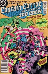 Captain Carrot and His Amazing Zoo Crew #20 FN; DC | save on shipping - details