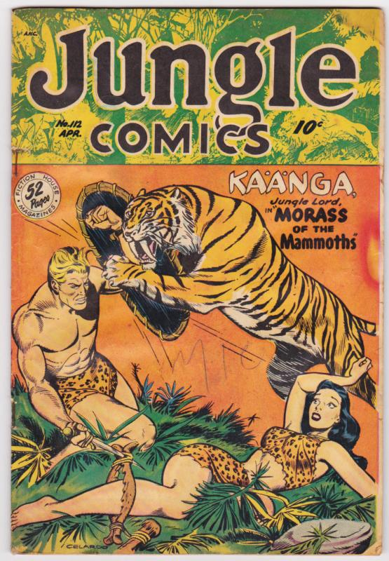 JUNGLE COMICS #112 1949-KAANGA-SPICY TIGER COVER-TABU