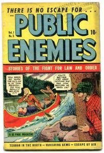 Public Enemies #5 1948- Golden Age Crime comic- RCMP- VG