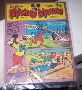 mickey mouse weekly magazine ( uk) # 130  april 15 1978 walt disney  super goof