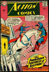 Action Comics #336 1966- Superman - Supergirl- Fortress of Solitude VF
