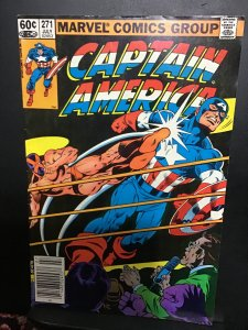 Captain America #271 (1982) Cap Wrestles Mr. X! Hi grade!  VF/NM Wow!